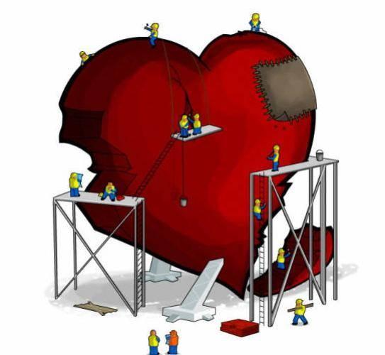 imagenes de corazones rotos de amor. reparar corazones rotos